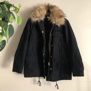 H&M Fall and Winter Black Coat